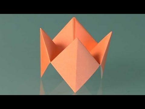 Himmel oder hölle. Origami Papierfaltkunst lerner