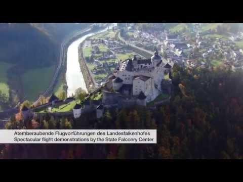 Die Burg Hohenwerfen aus der Luft