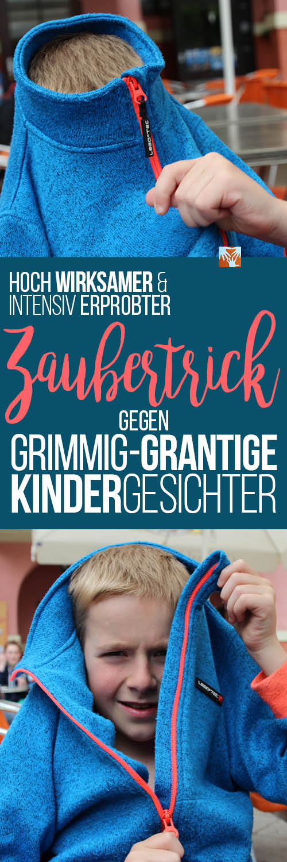 """Hoch wirksamer und intensiv erprobter """"Zaubertrick"""" gegen grimmig-grantige Kindergesichter, Erziehung mit Humor, Kleinkind, Schulkind"""