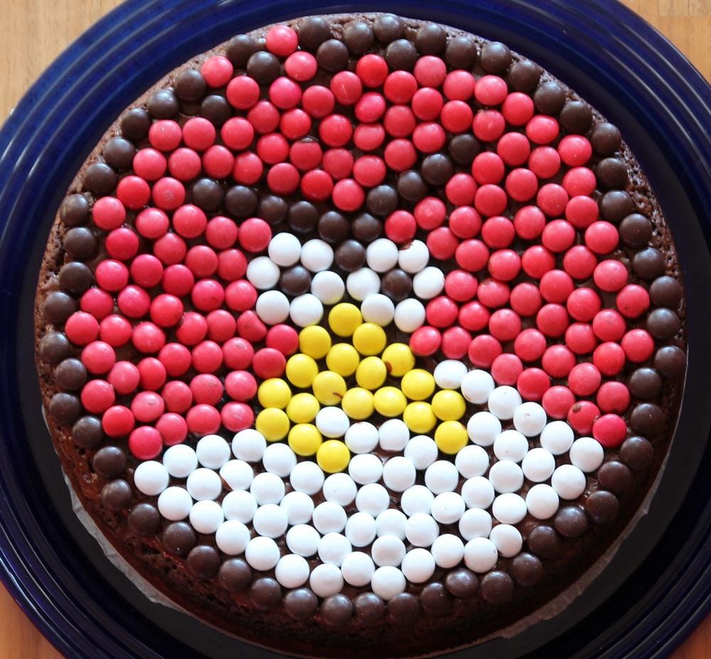 Zum Geburtstag Angry Birds Schokokuchen Mit Smarties Muttis