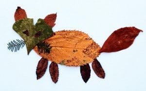Basteln mit Kindern: Herbstliche Blätter-Bilder