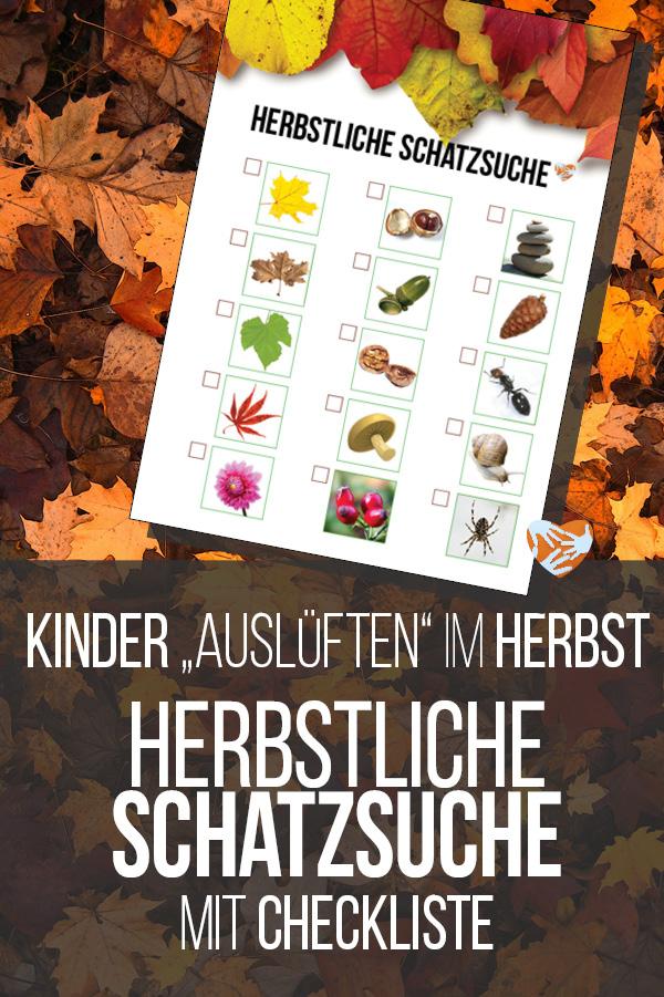 Herbstliche Schatzsuche mit Checkliste