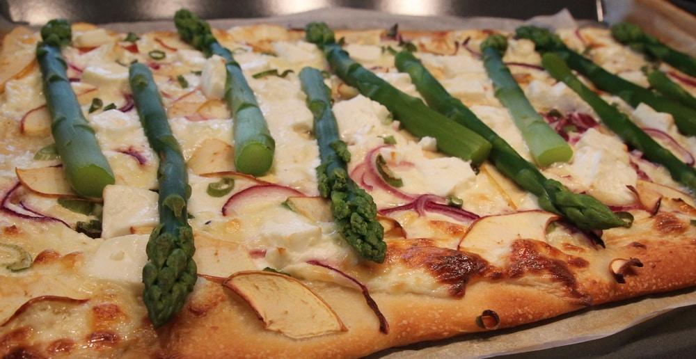 Spargel-Pizza, Spargel-Flammkuchen