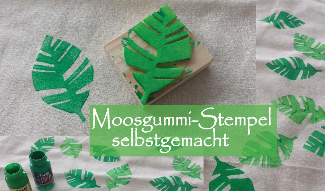 Selbstgemacht: Stempel aus Moosgummi