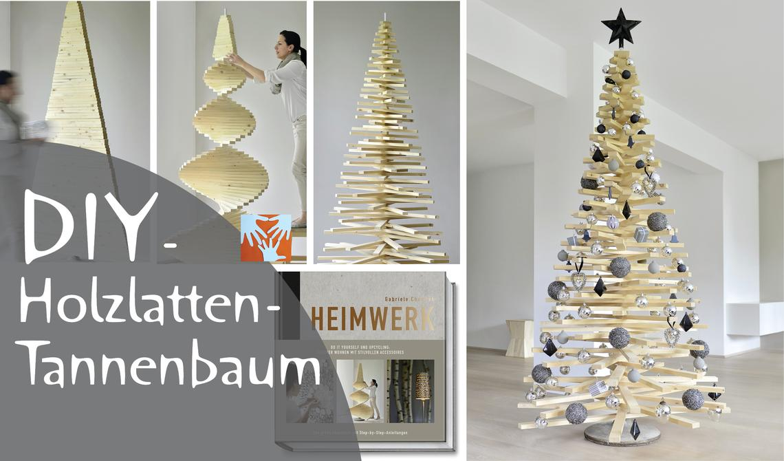 diy weihnachtsbaum aus holzlatten muttis n hk stchen. Black Bedroom Furniture Sets. Home Design Ideas
