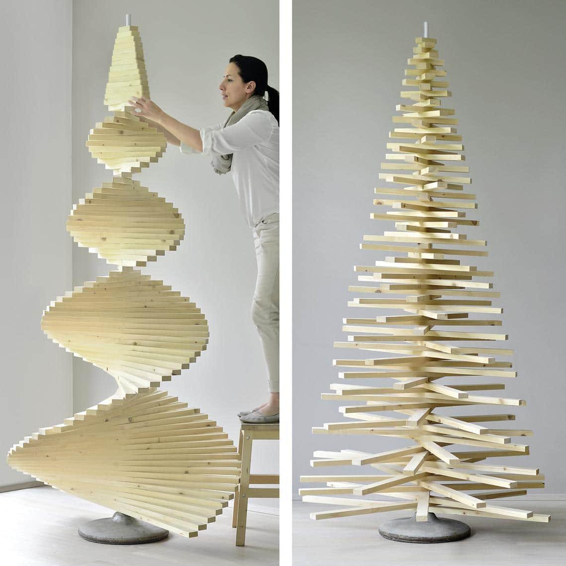 Super DIY-Weihnachtsbaum aus Holzlatten | Muttis Nähkästchen IJ64
