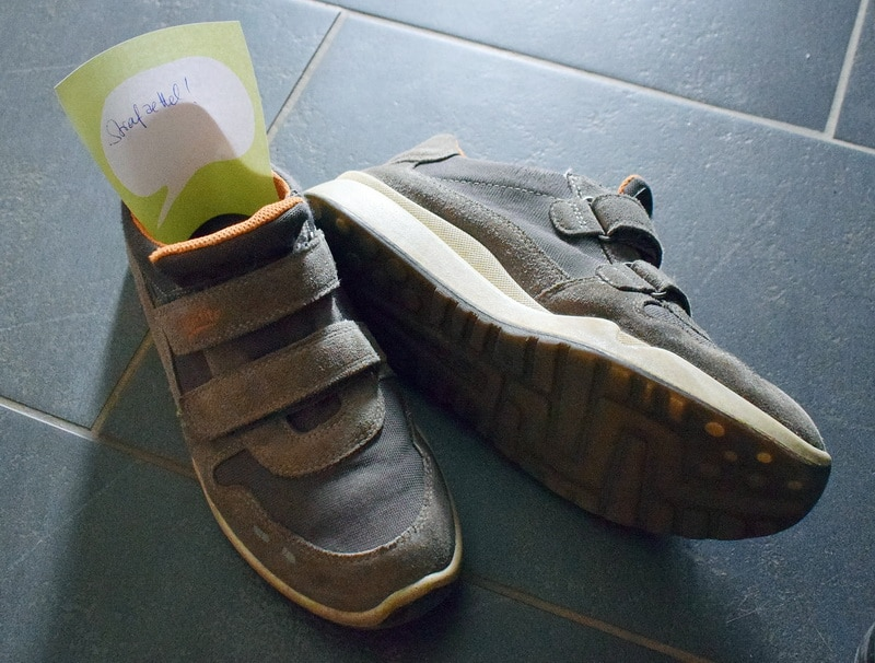 Falschparkende Schuhe