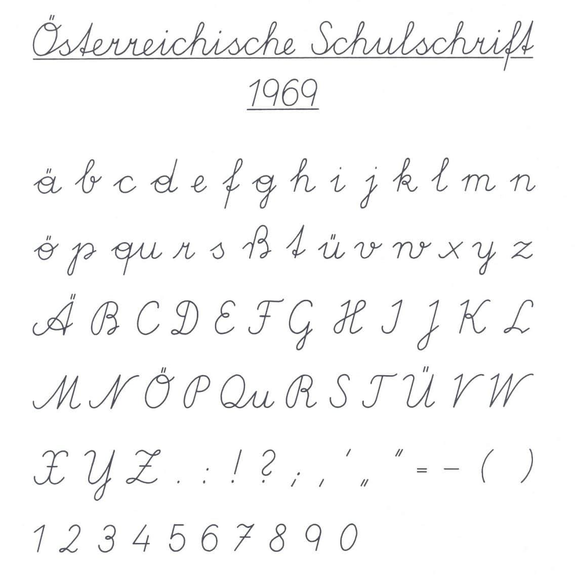 Österreichische Schulschreibschrift 1969