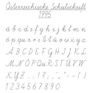 Österreichische Schulschreibschrift 1995