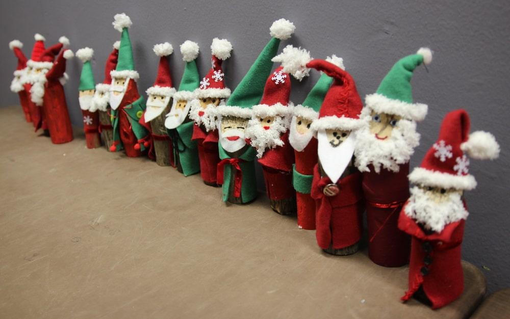 Basteln Mit Kindern Fur Weihnachten Weihnachtsmanner Aus Holz