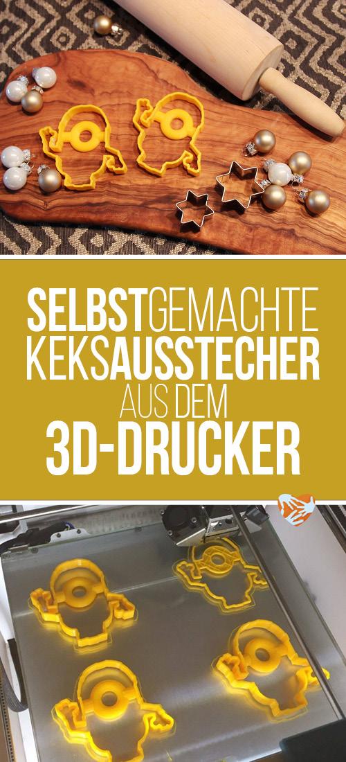 Weihnachtliches DIY: Selbstgemachte Keksausstecher aus dem 3D-Drucker. Digitale Bastelidee mit Kindern in der Vorweihnachtszeit und im Advent.