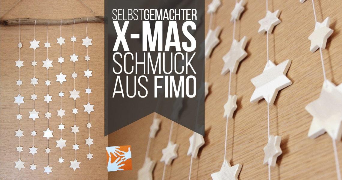 Selbstgemachter Weihnachtsschmuck aus Fimo Air