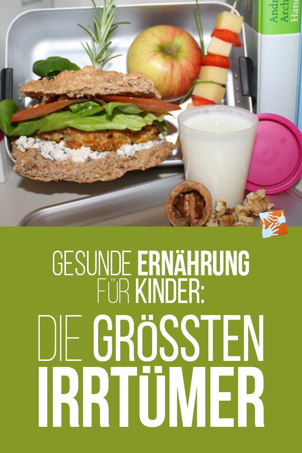 Gesunde Ernährung für Kinder: Die größten Irrtümer. Eine Ernährungsexpertin klärt auf.
