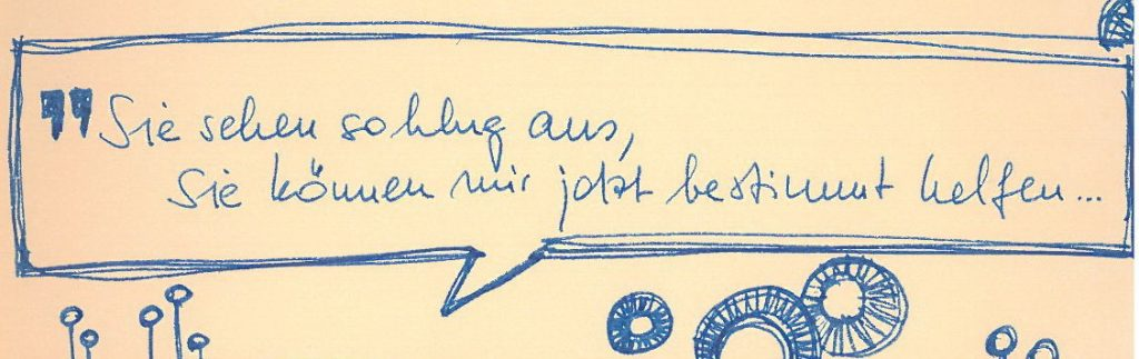Sketchnote: Vortrag von Jan-Uwe Rogge Muttis Nähkästchen
