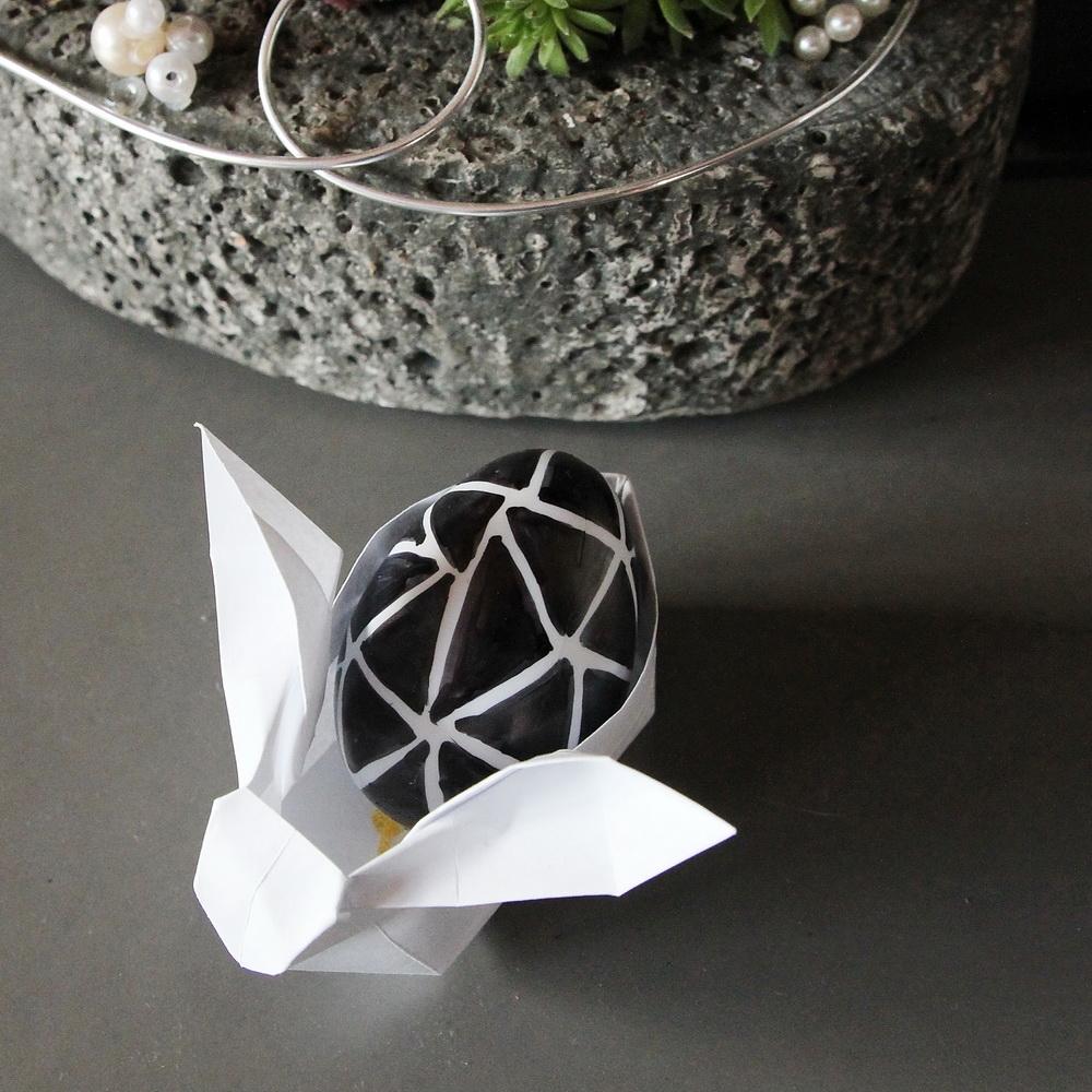 Osterhase Origami, Osterdeko selbstgemacht | DIY | Muttis Nähkästchen