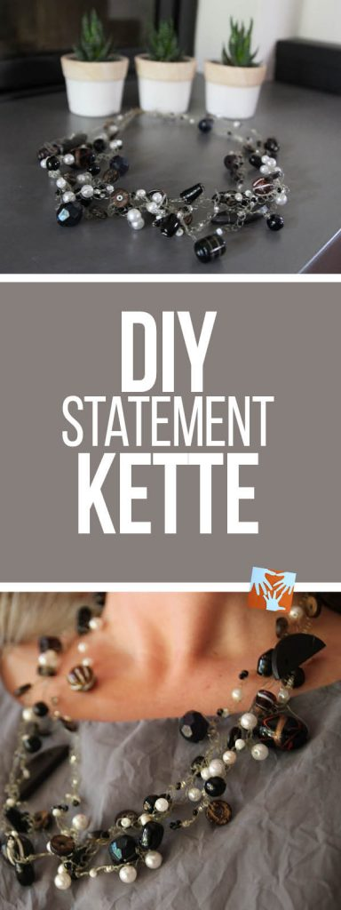 DIY Statementkette, selbstgemachte Häkelkette | Statement necklace DIY