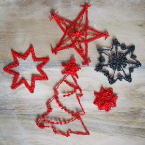 Basteln mit Kindern: DIY Weihnachtsdeko mit dem 3D-Zeichenstift. Sterne und Weihnachtsbaum