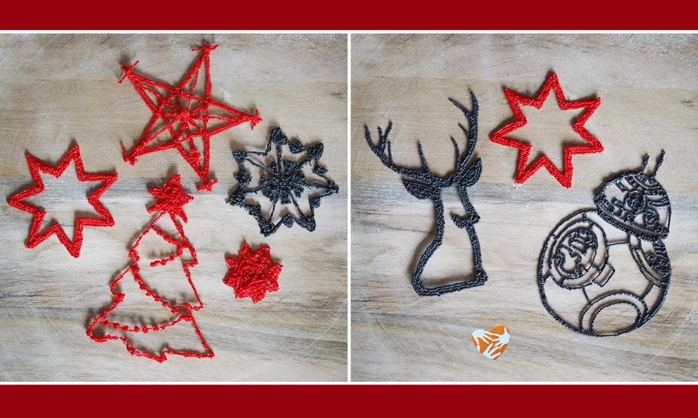 Basteln mit Kindern: Weihnachtliche Deko aus dem 3D-Doodler