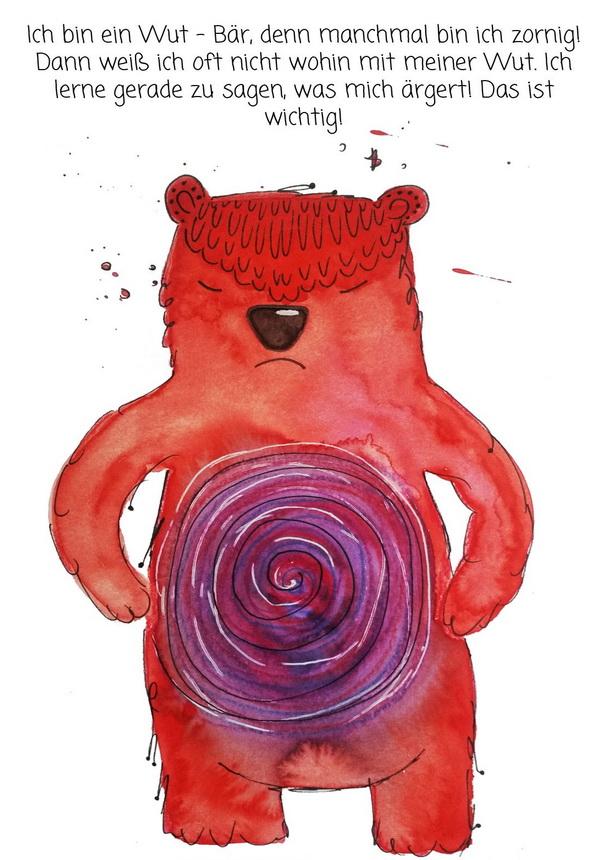 Kraftkarten für Kinder: Wut-Bär by Sabine Brengel