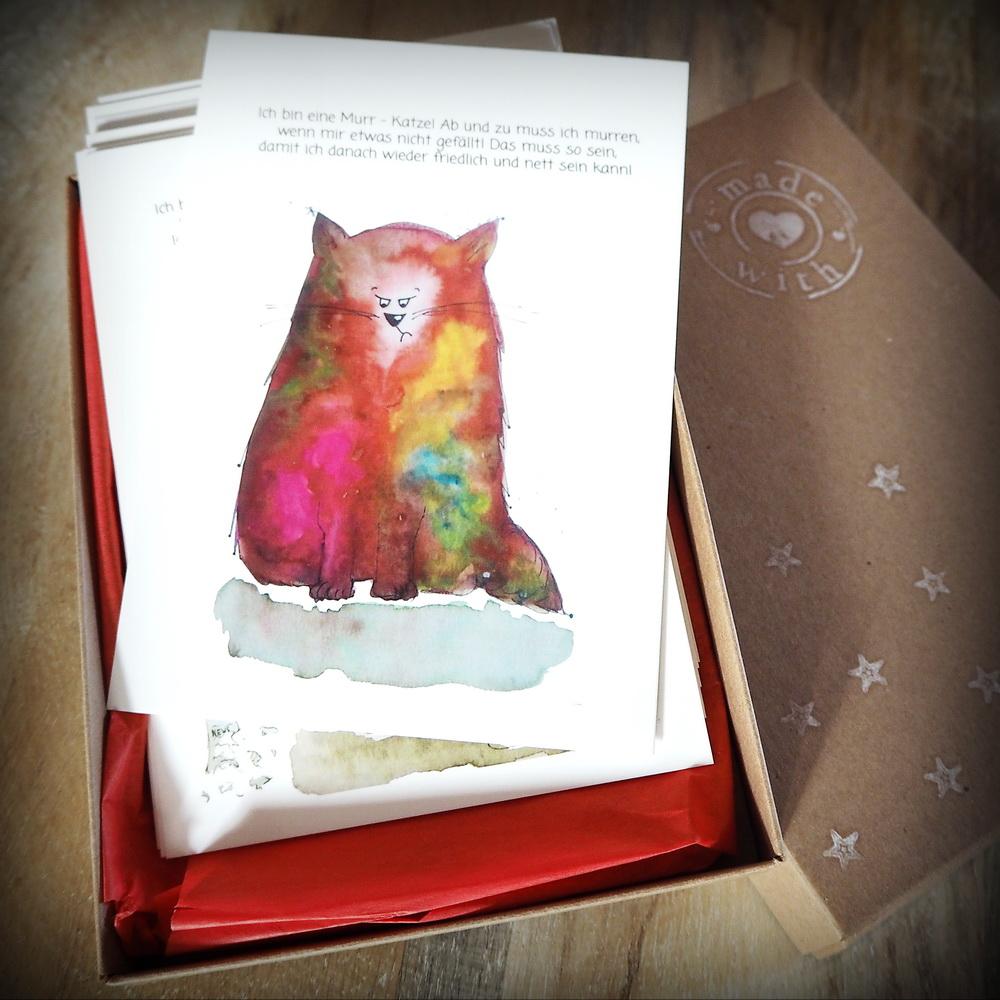 Kraftkarten für Kinder: Die Murr-Katze