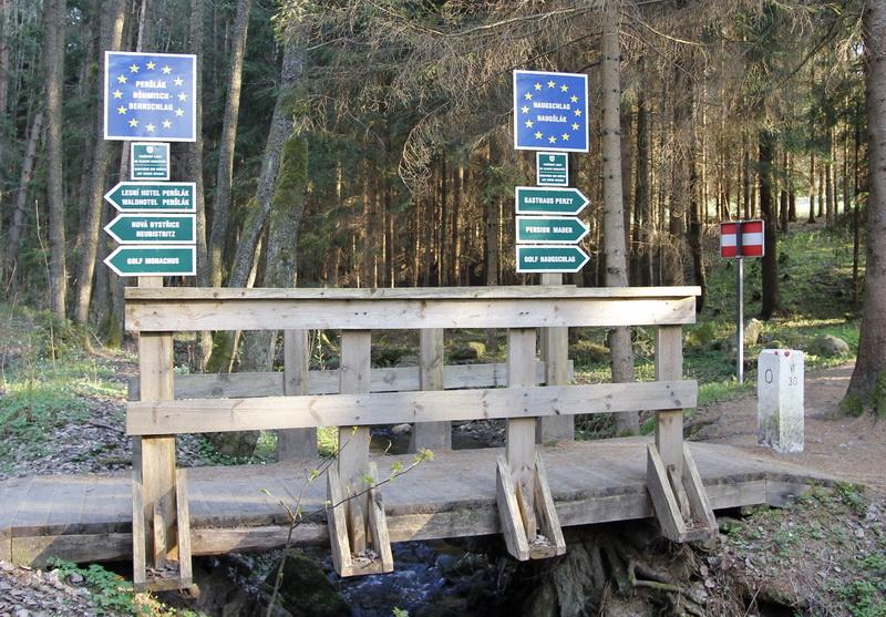 Grenzübergang zwischen Österreich und Tschechien
