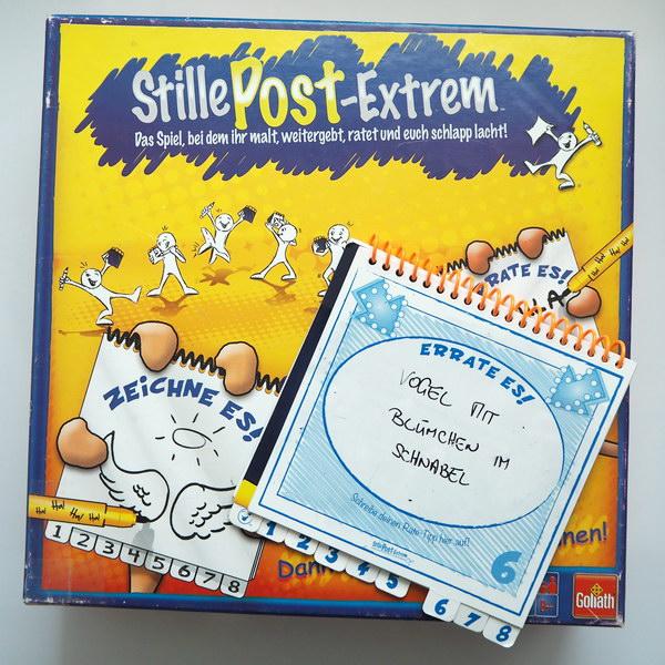 Spiele für Familien: Stille Post Extrem