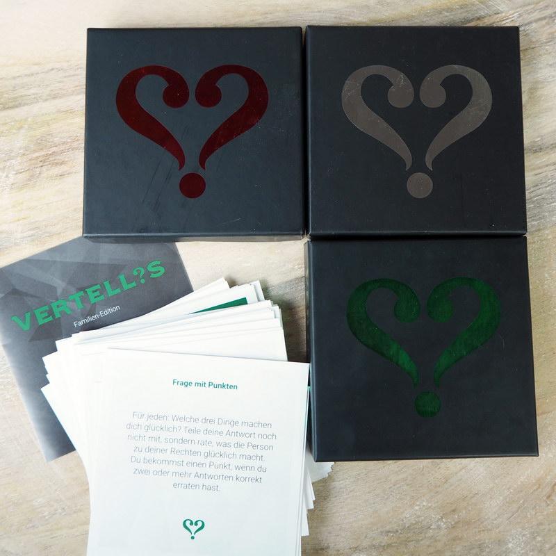Vertellis Classic, Vertellis Familien-Edition, Vertellis Paar-Edition
