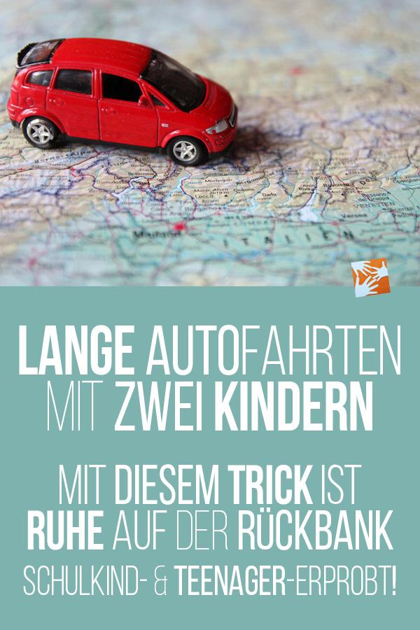 Lange Autofahrten mit zwei Kindern: Mit diesem Trick ist Ruhe auf der Rückbank. Schulkind- und Teenager-erprobt!