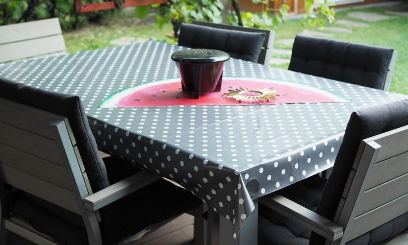 Wachstuch Tischdecke für die Terasse