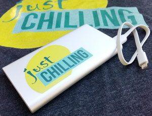Just chilling: Geschenkidee für Teenager - individuell gestaltete Powerbank