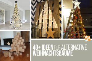 40+ Ideen für alternative Weihnachtsbäume, alternative Christbäume, nachhaltig und ökologisch