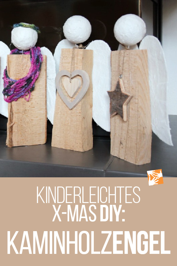 Kinderleichtes X-Mas DIY: Kaminholzengel aus Holzscheiten