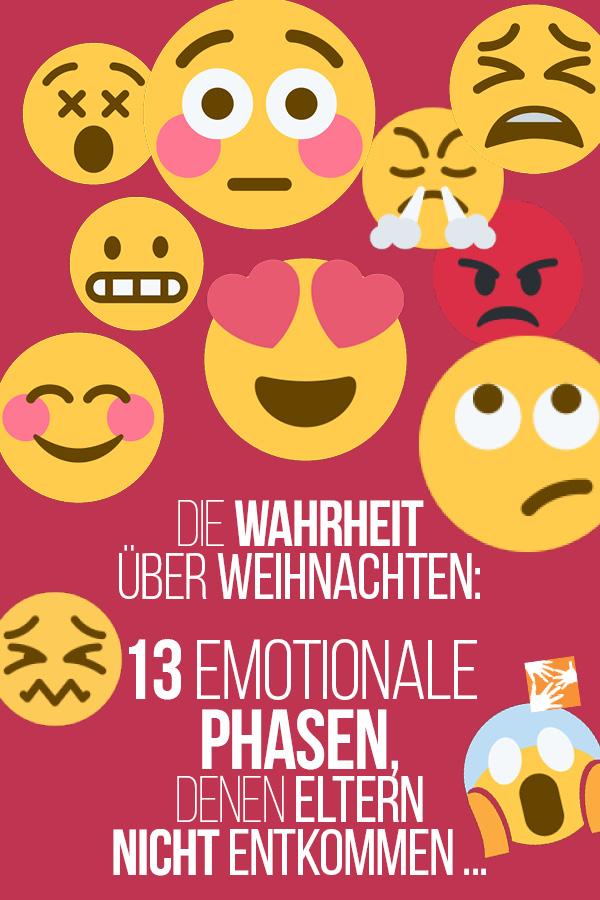 Die Wahrheit über Weihnachten: 13 emotionale Phasen, denen Eltern nicht entkommen ...