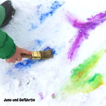 Winter mit Kind: Schneekunst