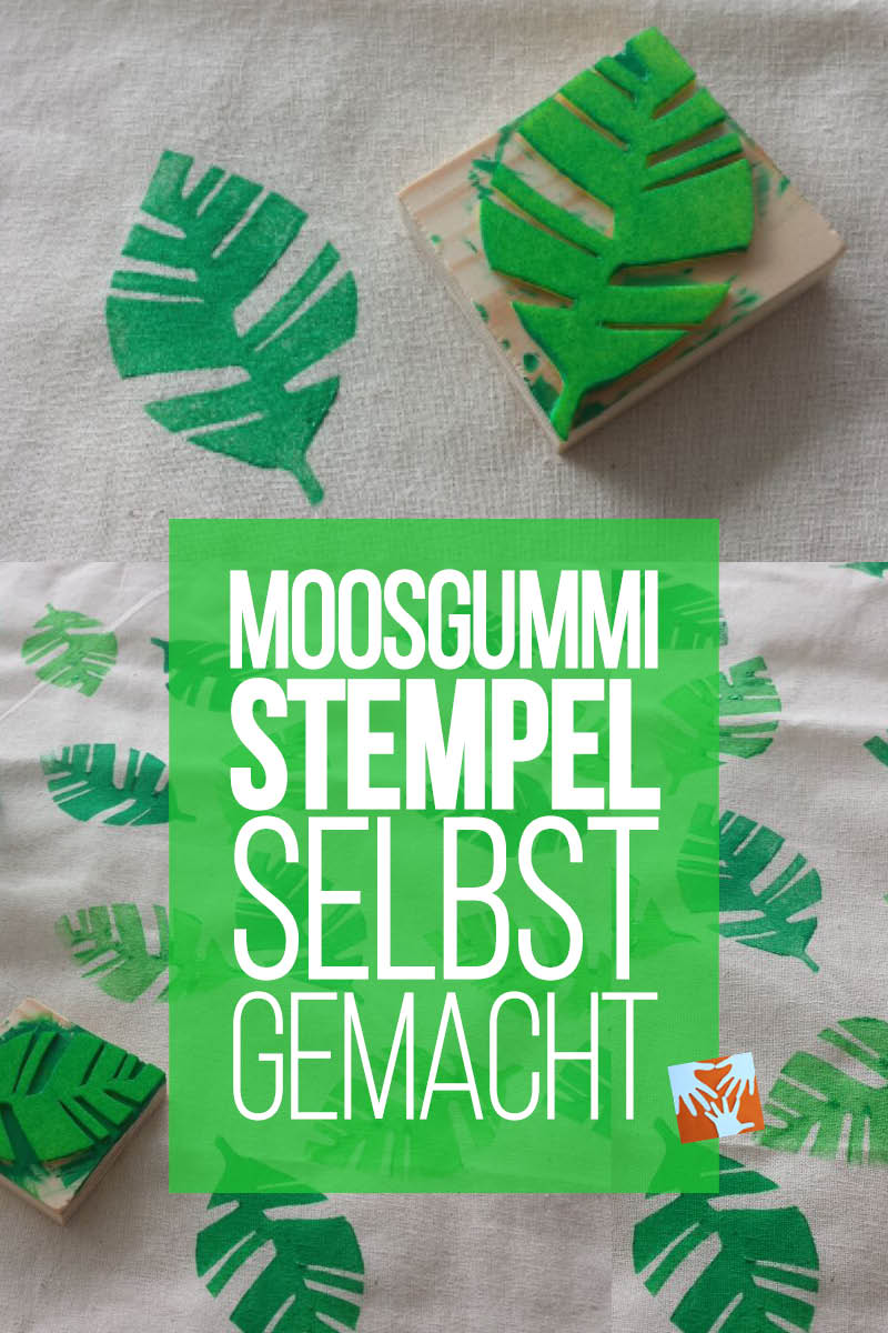 Moosgummi-Stempel selbst gemacht