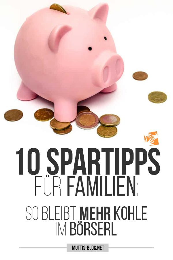 Spartipps für Familie
