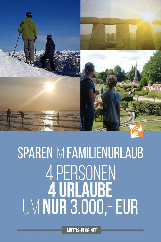 Sparen im Familienurlaub: 4 Personen, 4 Urlaube um nur 3.000 Euro - so geht's