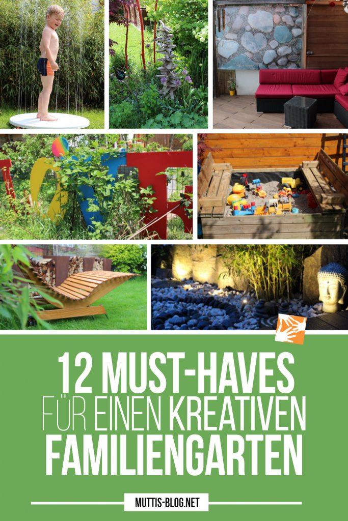 12 Must-haves für einen kreativen Familiengarten