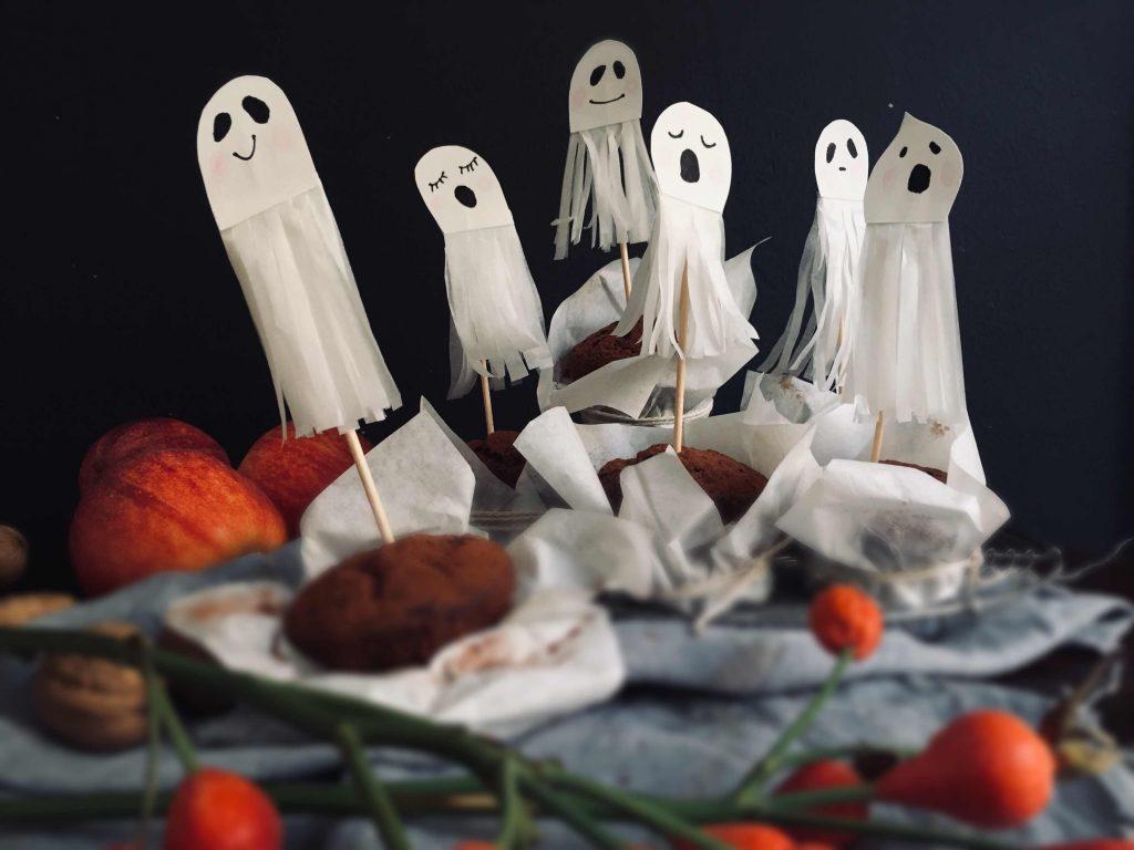 Gespenstische Muffin-Topper für Halloween