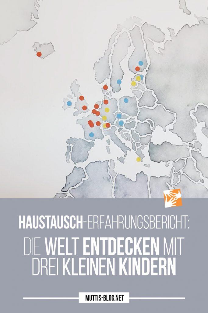 Haustausch auf großer Landkarte von Posterlounge