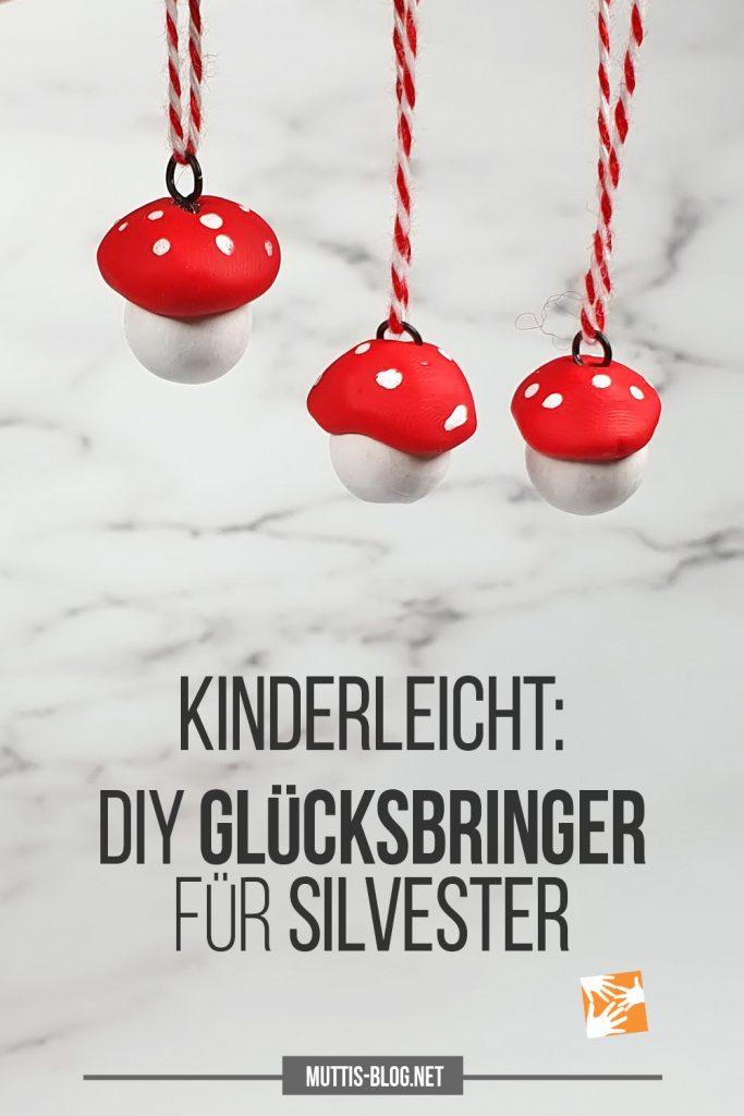 DIY Fliegenpilz aus Fimo: Selbstgemachter Glücksbringer für Silvester