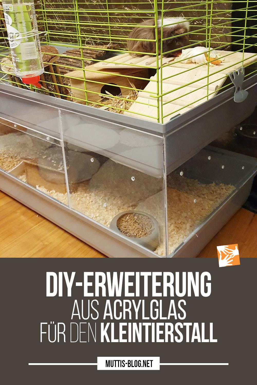 Kleintierstall erweitern: Zusätzliches Stockwerk aus Acrylglas
