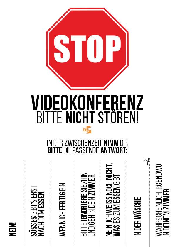 Videokonferenz im Home Office: Bitte nicht stören