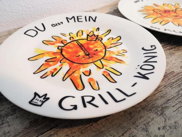 Vatertagsgeschenk: Selbstgemachter Grillteller by kinderlachenelternsachen.com