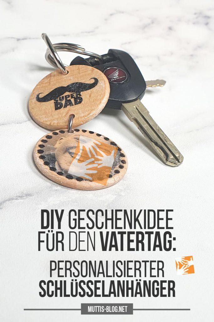 Vatertagsgeschenk Idee: Schlüsselanhänger mit Fototransfer