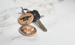 Vatertagsgeschenk: Schlüsselanhänger mit Fototransfer