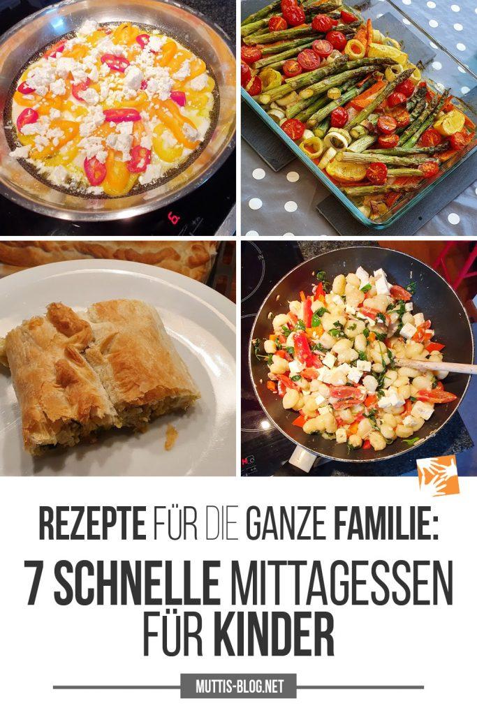 Rezepte für die ganze Familie: 7 schnelle Mittagessen für Kinder