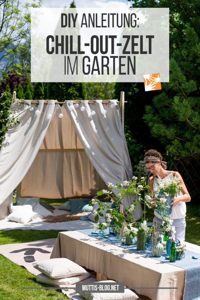 DIY Chill out Zelt für den Garten - Anleitung