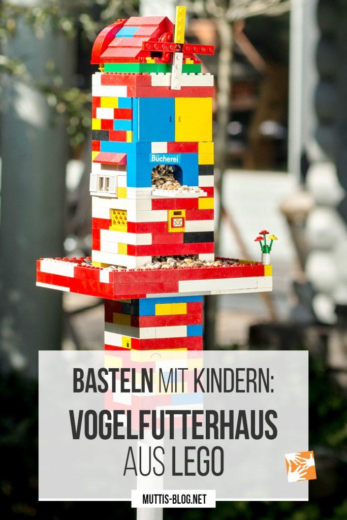 Vogelfutterhäuschen basteln aus Lego