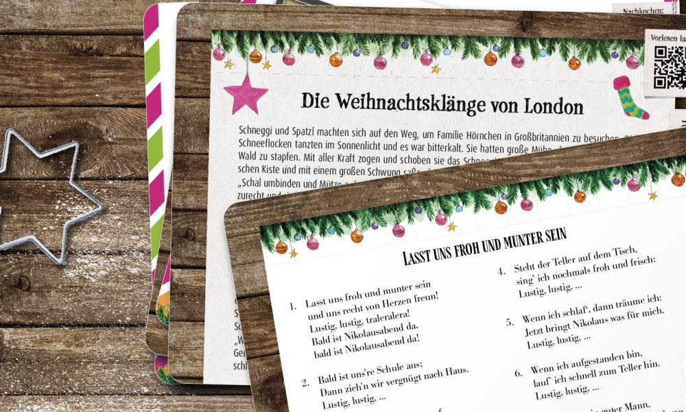 Schneggi und Spatzl: Der Adventskalender für wertvolle Zeit mit Kindern. 2 Kalender gewinnen!